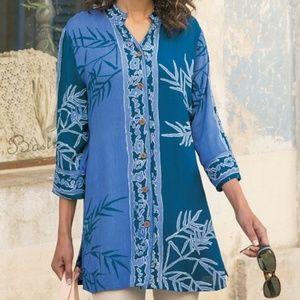 Soft Surroundings Namaste Batik Tunic - Size M